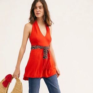 Free People Wrap It Up Halter Top